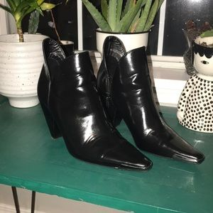 Zara Cowboy Black Pointed Boots